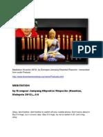 Dzongsar Jamyang Khyentse Rinpoche - MEDITATION (Kuantan 2012)...transcribed from podcast