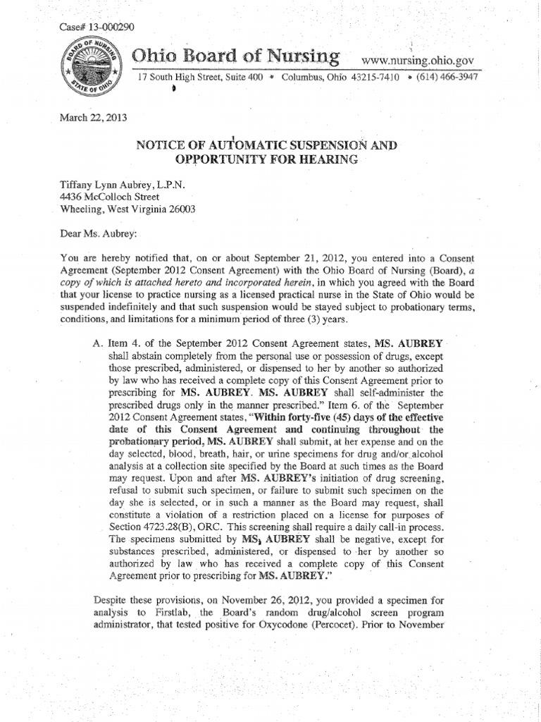 March 2013 board of nursing notices medical prescription drug test 1betcityfo Gallery