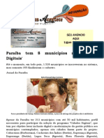 Paraíba tem 8 municípios no 'Cidades Digitais'