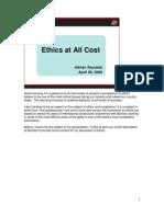 Ethics Speech - Interesting - Az_ecoa_speech