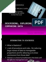Describing, Exploring, And Comparing Data