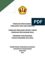 Petunjuk Teknis Tesis UNPAD