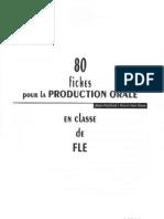 80 Fiches Pour La Production Orale