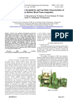 Analysis of Relative Permittivity and Tan Delta Characteristics of silicone rubber filled with nanocomposites