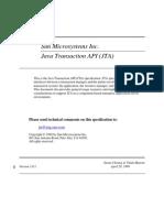 JTA Specification Sun