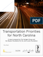 Transportation Priorities for North Carolina
