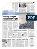 Privacy, inchiesta su Google