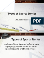 Types of Sports Stories