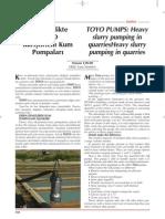 ERKE Group, Madencilikte Toyo Karıştırıcılı Kum Pompaları - Şantiye Dergisi - Nisan 2010
