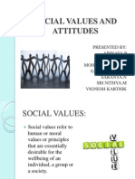 Social Values and Attitude