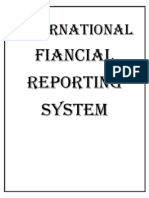 Cover Page of International Fiancial Reporting System