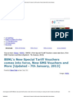 BSNL New STV Packs Details 2013