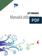 Manual Tableta Samsung GT-N8000