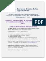 ARTICLE Economic Downturn Creates Sales Opportunitie Final