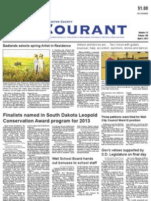 Pennington Co Courant April 4 2013 Newspapers Employment