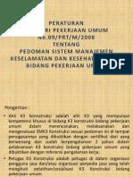 Permen Pu No.09 Tahun 2008