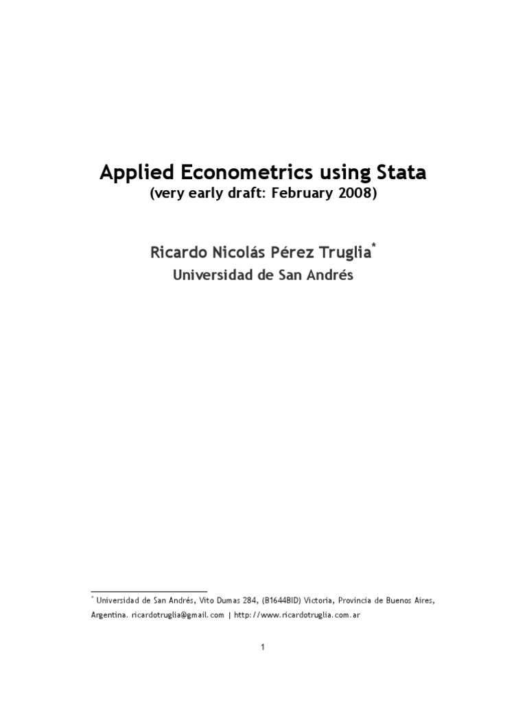 Applied Econometrics Using Stata | Errors And Residuals | Regression  Analysis