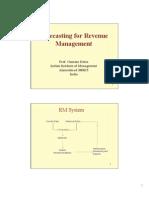Forecasting for Revenue  Management