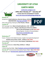 University of Utah Earth Week