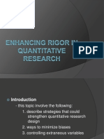 Lect-5, Enhancing Rigor in Quantitative Research
