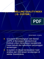 Rock Tunnelling Quality Index