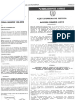 Acuerdo 4-2013 Corte Suprema de Justicia
