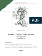 Against Constructive Criticism