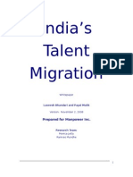 India's Talent Migration - An Indicus Manpower Whitepaper