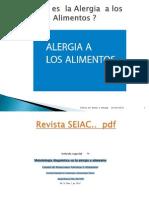 SEIAC Alergia a Los Alimentos Reactividad Cruzada