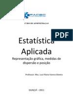 APOSTILA ESTATÍSTICA APLICADA 5ª Representação gráfica e medidas de posição e dispersão