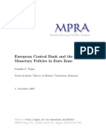 European Central Bank and the Monetary Policies in Euro Zone