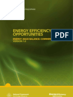 AU - Energy Efficiency Opportunities Energy Mass Balance Commercial