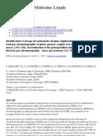 Identification et dosage des principales drogues amphétaminiques clans le sang total par chromatographie en phase gazeuse coupl
