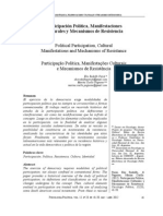 Participación Política, ManifestacionesCulturales y Mecanismos de Resistencia