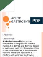 Acute Gastroenteritis Powerpoint #1