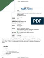 Tata Power - Wikipedia, The Free Encyclopedia