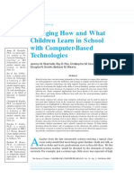 Changing How and What Children Learn in School With Computer-based Technologies