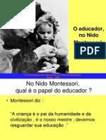 A Educadora No Nido Montessori