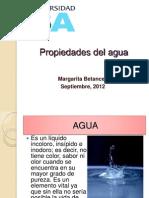 Propiedades de Agua