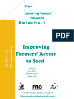 Empowering Farmers Innovation Series No.improving Farmers Access to Seed