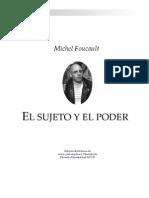 Michel Foucault El Sujeto y El Poder