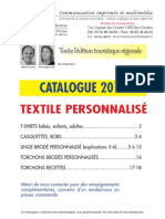 Catalogue Textile