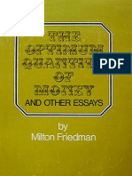 133207983 the Optimum Quantity of Money Milton Friedman