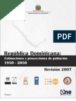 Estimaciones y Proyecciones de Poblacion 1950 2050
