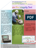 Broucher Pile Integrity Test