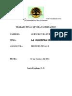 Legítima Defensa - Rincón del Vago