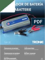 Manual Cargador Baterias TRONIC