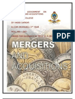 Mergers and Acquisitions[