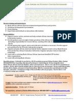 CPP AASC Center Intern Position Description 2013