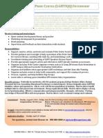 Pride Center Graduate Intern Job Description SP2013